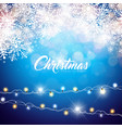 merry christmas on shiny vector image vector image