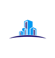 modern building construction design logo vector image vector image