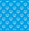 monitor pattern seamless blue vector image vector image