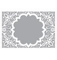 moroccan retro carved mandala in rectangle frame vector image