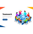 office workers at work place concept coworking or vector image vector image