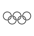 olympic games rings icon in flat style olympiad vector image