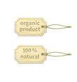 Organic tags set 11 vector image vector image