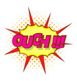 ouch comic text icon pop art style vector image vector image