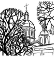 Panteleymon Cathedral in St Petersburg vector image vector image