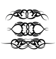 Patterns of tribal tattoo set vector image