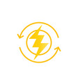 recharging icon sign vector image vector image