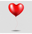 red balloon heart in transparent background vector image vector image