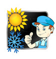 repair of air conditioner vector image vector image