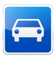 road blue sign on white background road traffic vector image