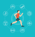 running and jogging infographics concept vector image vector image