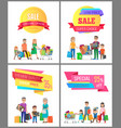 sale low price special discount super choice card vector image