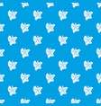 sea star pattern seamless blue vector image vector image