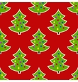 Seamless pattern Image of Christmas tree on a red vector image vector image