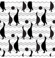 Seamless vintage pattern with penguin vector image