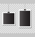 set empty template photo frames with clips vector image vector image