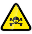 Skull and bones warning sign modern icon with vector image vector image