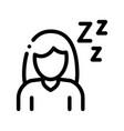 sleepiness symptomp of pregnancy sign icon vector image vector image