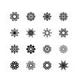 Snowflakes set winter and christmas theme EPS10 vector image vector image