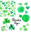 St Patricks day watercolor set vector image vector image