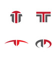 t letter icon design vector image vector image