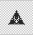triangle sign with biohazard symbol icon isolated vector image vector image