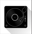 turntable and vinyl record disc flat simple vector image vector image