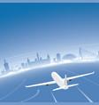 valencia skyline flight destination vector image vector image