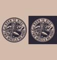 vintage motorcycle round badge vector image vector image