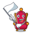 with flag king throne mascot cartoon vector image