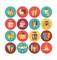 ice cream and frozen desserts and sweets icon vector image