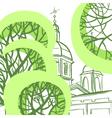 Panteleymon Cathedral in St Petersburg vector image