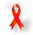AIDS awareness ribbon Red ribbon vector image