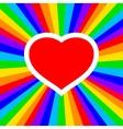 rainbow heart vector image