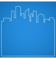 Abstract city background Blueprint vector image vector image