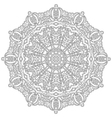 adult coloring book floral mandala black and white vector image vector image