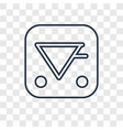 aqua concept linear icon isolated on transparent vector image