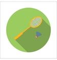 Badminton flat icon vector image vector image