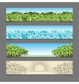 Banner ads palm tree theme vector image vector image