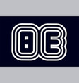 black and white alphabet letter combination be b vector image vector image