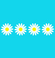 camomile icon set line four white daisy chamomile vector image vector image