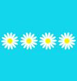 camomile icon set line four white daisy chamomile vector image