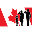 canada soldier family salute vector image vector image