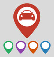 car map pointer icon on grey background vector image