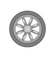 Car wheel icon black monochrome style vector image vector image