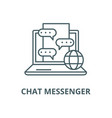 chat messenger line icon linear concept vector image vector image