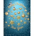 Christmas blue light background EPS 10 vector image