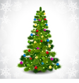 Christmas tree with colored balls vector image vector image