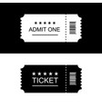 cinema ticket black and white background vector image vector image