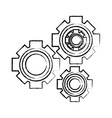 cogwheel icon image vector image vector image